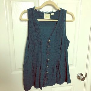 Maeve Teal Tank Top Blouse